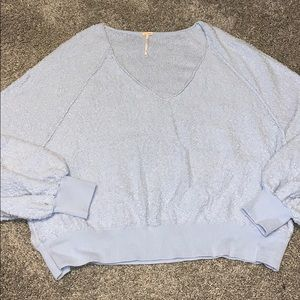 Free people v neck textured sweater size small